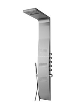 Surface Curve Stainless Steel Thermostatic Shower Panel