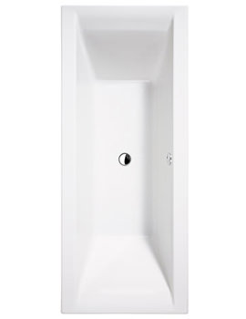 Essential Wave Double Ended Bath 1700x700mm White - EB117