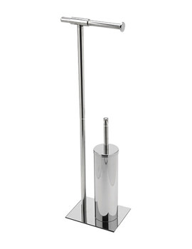Sagittarius Milan Free Standing Toilet Brush And Roll Holder