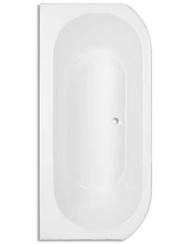 Destiny D Shaped Bow Fronted Bath 1700 x 800mm