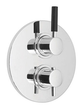 Nuance Concealed 2 Outlet 2 Handle Thermostatic Shower Valve