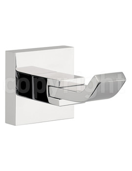 Zeya Single Robe Hook Chrome - ZE021C