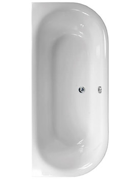 Metauro 1 Back To Wall Bath 1800 x 800mm - 154METAURO11880