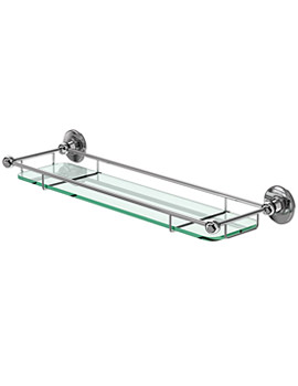 Shelf With Railing Chrome Plated - A18 CHR