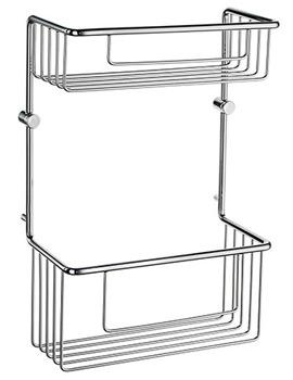 Sideline Soap Basket Straight 2 Level 320mm High - DK1031