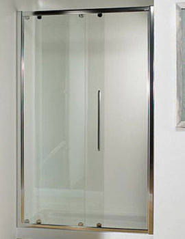 Straight 1200mm Sliding Shower Door With Tray And Waste