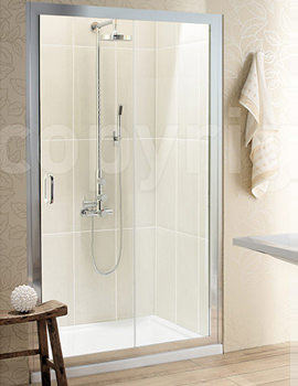 Classic Single Shower Slider 1200 x 1950mm - 6344