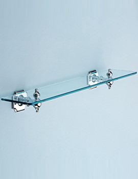 Silverdale Victorian Luxury 495mm Glass Shelf Chrome