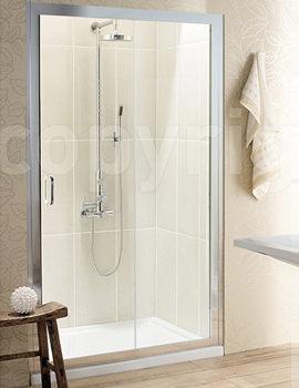 Classic Single Shower Slider 1400 x 1950mm - 6376