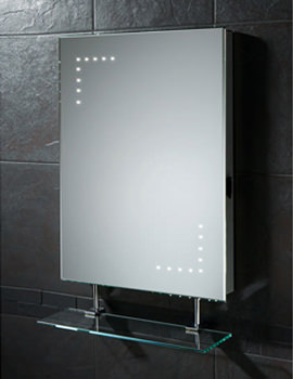 Celeste LED Bathroom Mirror With Glass Shelf And Shaver Socket
