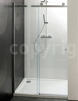 Central Single Sliding Shower Door 1100mm - CSLSC1100