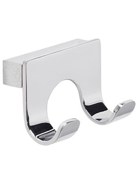 Halo Chrome Finish Double Robe Hook - RB20.02