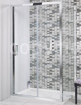 Elite Single Shower Sliding Door 1200mm - LSLSC1200