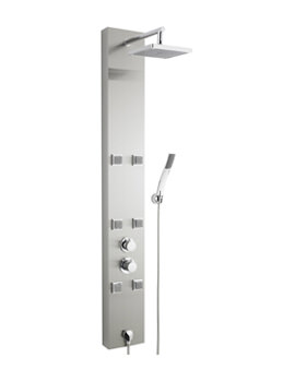 Ultra Easton Thermostatic Stainless Steel Shower Panel - AS374