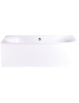 Kharine 1700 x 750mm Acrylic Double Ended Bath - BKDW00SS