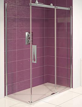 Aqua 8 Roller Sliding Door And Side Panel 1200 x 800mm