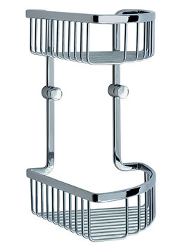Smedbo Loft Corner Soap Basket Double - LK377