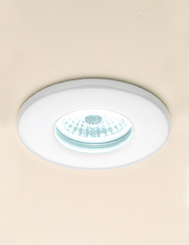 Fire Rated Cool White LED White Showerlight - 5830
