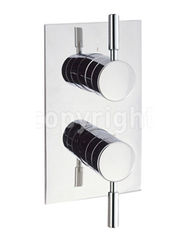 Design Recessed Thermostatic Shower Valve With 2 Way Diverter
