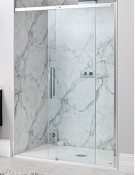 Simpsons Ten Frame-less Single Sliding Shower Door 1200mm