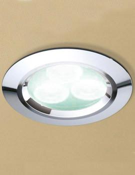 Cool White LED Chrome Showerlight - 5750