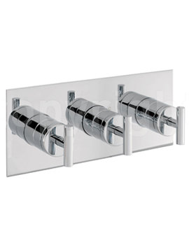 Glide Recessed 3 Control Landscape Thermostatic Shower Valve