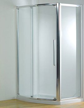 Original 1200mm Silver Bowed Sliding Door With Tray And Waste