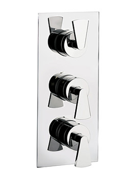 Crosswater Essence Thermostatic Shower Valve 3 Control Portrait