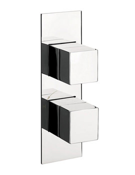 Water Square Slim Thermostatic Shower Valve With 2 Way Diverter