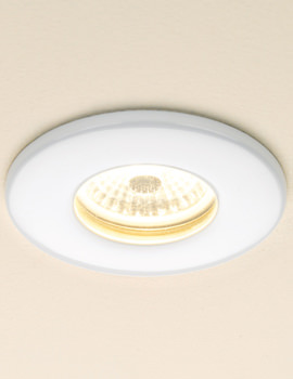 Fire Rated Warm White LED White Showerlight - 5770