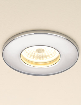 Fire Rated Warm White LED Chrome Showerlight - 5780