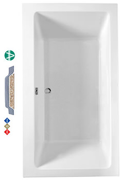 Related Phoenix Amanzonite Rectangularo 7 Double Ended Bath 1800 x 1000mm