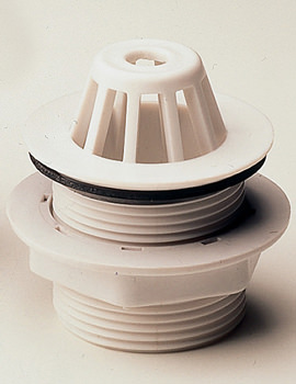 1 And Half Inch Dome Outlet Grating White - WF9370XX