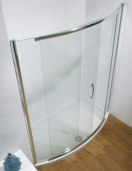 Infinite 1200mm Bowed Slider Shower Door Side Access