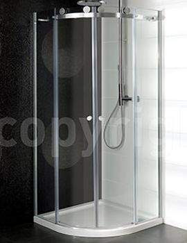 Central Double Door Quadrant Enclosure 900mm - CQSSC0900
