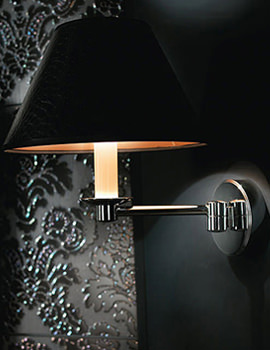 Brokton Wall Light With Black Leather Shade - XLP1000100