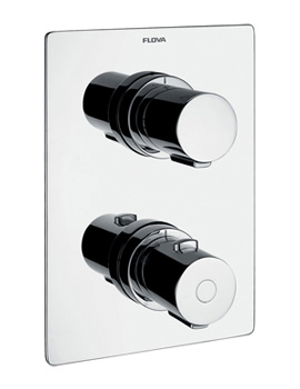 Flova Annecy Concealed Thermostatic Shower Valve With 3 Way Diverter