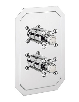 Belgravia Crosshead Chrome Recessed Thermostatic Shower Valve