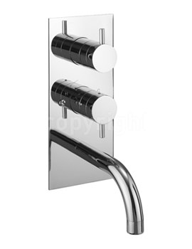 Kai Lever Thermostatic Shower Valve With Spout And Diverter