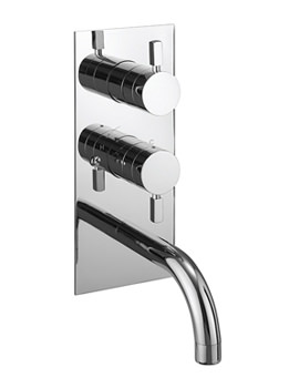 Related Crosswater Logic Thermostatic Shower Valve With Bath Spout And Diverter