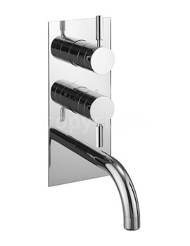 Design 2 Way Diverter Thermostatic Shower Valve With Bath Spout