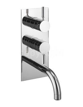 Design 2 Way Diverter Thermostatic Shower Valve With Bath Spout