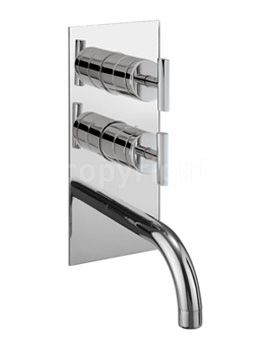 Glide Thermostatic Shower Valve With Spout And Diverter