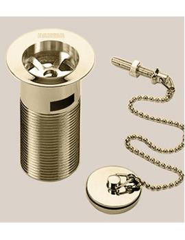 Bristan Luxury Basin Waste With Brass Plug - Gold Plated - W BSN7 G