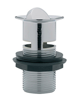 Slotted Flip Plug Basin Waste With Solid Plug Chrome