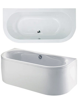 Related Phoenix Dee Bow Fronted Double Ended Bath With Panel 1700 x 800mm