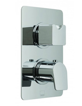 Photon Concealed 2 Handle Thermostatic Valve With Diverter - 3 Outlet