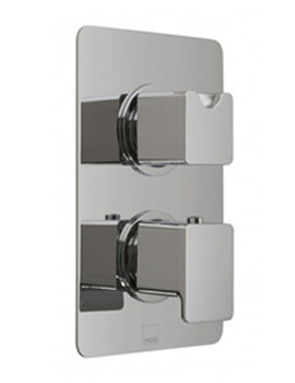 Phase Concealed 2 Handle Thermostatic Valve With Diverter - 3 Outlet
