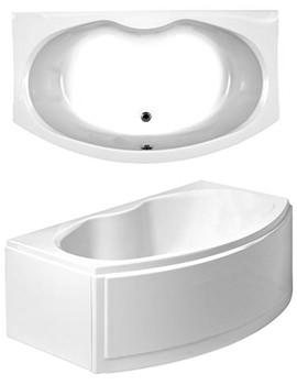 Corsica Bow Fronted Corner Bath With Panels 1700 x 970mm