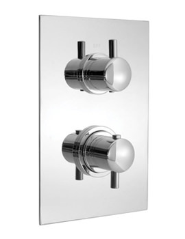 Celsius 3 Outlet 2 Handle Thermostatic Shower Valve - CEL-148B-3-SQ